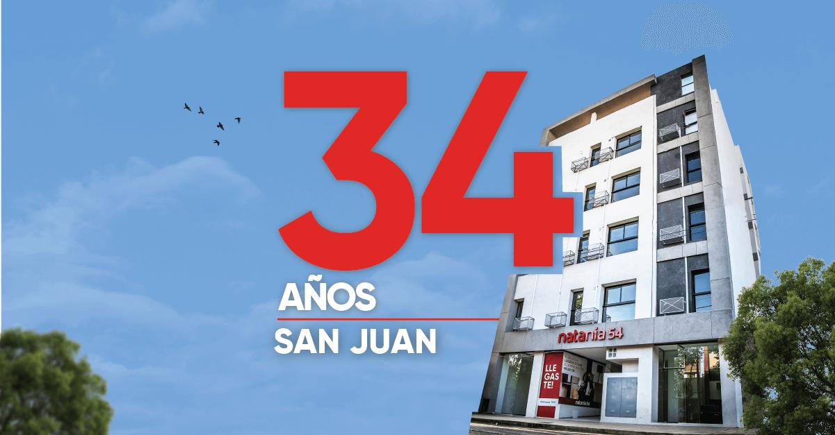 34 años en San Juan