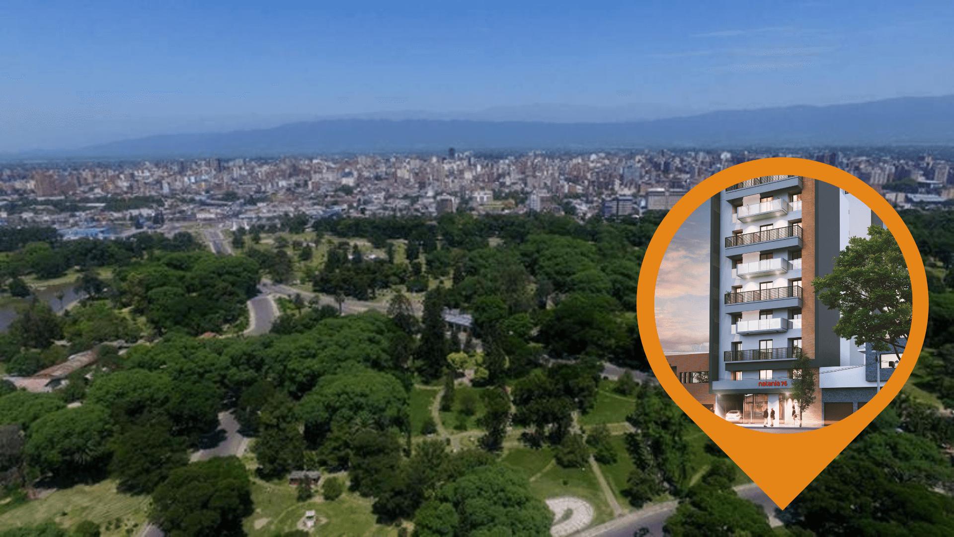 Con una vista imponente del Parque 9 de Julio, nace Natania 76